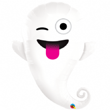 "Emoticon Ghost - Large Halloween Balloon (34"") 1pc"